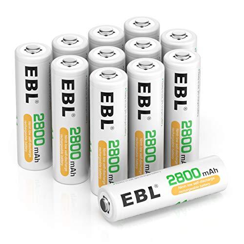 EBL AA Akku 2800mAh wiederaufladbare Migon AA Batterien Typ NiMH 12 Stücke, 1,2V AA Batterie