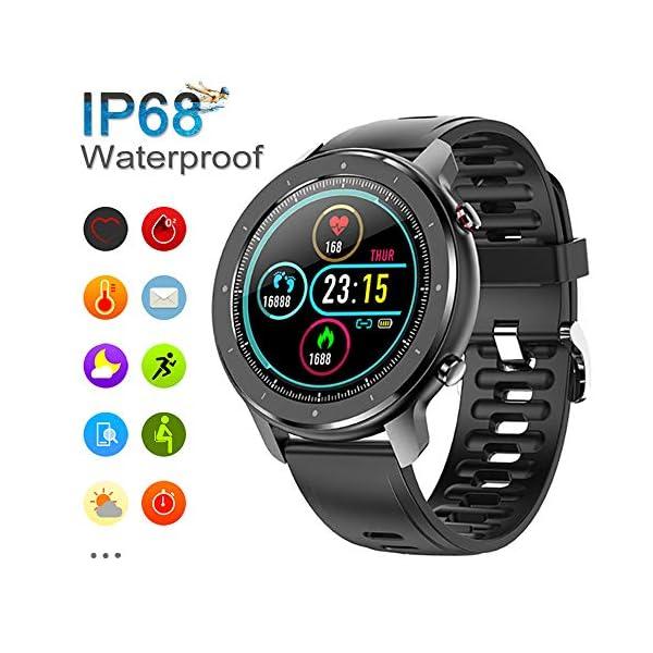 Reloj Inteligente Hombre, Smartwatch con Pantalla táctil, Fitness Tracker Impermeable IP68, Reloj Pulsometro Deportivo… 1