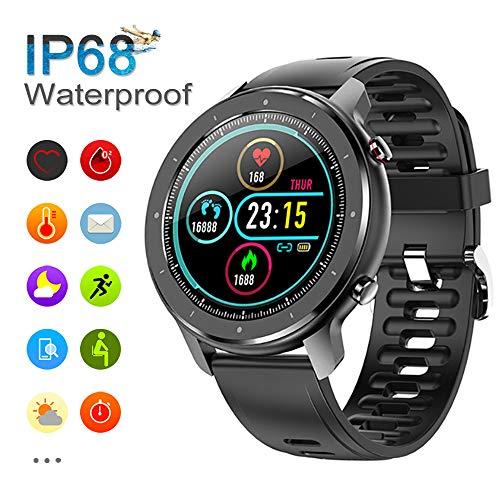 Smartwatch, Orologio Intelligente Fitness Uomo Donna Impermeabile IP68, Smart Watch con Colorato Full Touch Screen, Tracker Fitness con Monitoraggio Del Battito Cardiaco e Contapassi per Android iOS