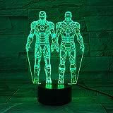 Elemento de moda decoración del hogar color 3D lámpara de mesa visual LED lava para niños mesa USB amantes de los niños regalo de fiesta de cumpleaños