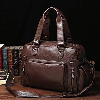 KEHUITONG Multifunctional Tote Bag - Fashion Street Men's Bag, Leather Strap Crossbody Bag, Men's Casual Handbag, Trend Travel Briefcase Toothbrush, comfortable electric toothbrush, easy