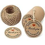 "100Stk. Geschenk Anhänger 4.3 CM * 4.3 CM kraftpapier Etiketten Tags ""Hand Made with Love""..."