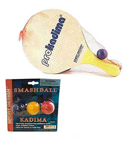 Pro Kadima Paddle Set Plus Replacement Smash Balls Bundle