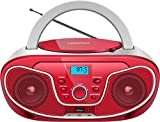 Radio Portatili Boombox,Lettore CD MP3 USB FM con Bluetooth,Lectores de CD portátiles(Ros...