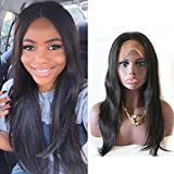 Fanshow Hair Pre Plucked Silk Top 360 Lace Wig Straight Brazilian Virgin Hair 360 Lace Frontal Wig with Baby Hair 180 Density (10' silk top)