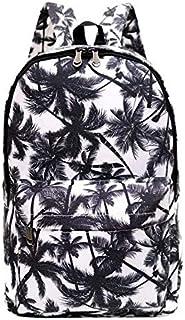 Canvas Backpacks Coconut leaf Printing School Bags For Teenagers students Shoulder Bag