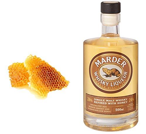 Marder Whisky Liqueur mit Bienenhonig: Genuss aus dem Schwarzwald Standardflasche 500ml