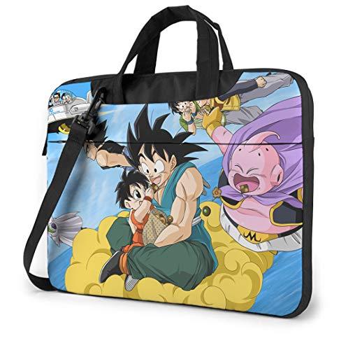 Dragon Ball Z 14 Inch Laptop Bag, Laptop Case Laptop Shoulder Bag with Zipper and Pockets, Laptop Sleeve Shoulder Bag for Women and Men, Anime Saiyan Handbag