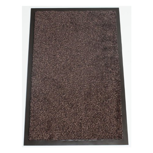 Marrón oscuro Washamat–densa algodón Pile–PVC antideslizante–80cm x 50cm