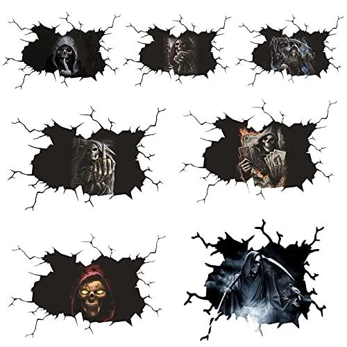 Xzbling Calcomanías De Halloween, Calcomanías 3D Y Pegatinas De Coches Fantasmas, Pegatinas De Ventanas Impermeables Pegatinas Divertidas De PVC, 20x30 / 30x40cm