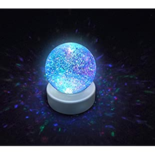 Playlearn SWGB Glitter Ball snow globe with LED color changing Mood Light