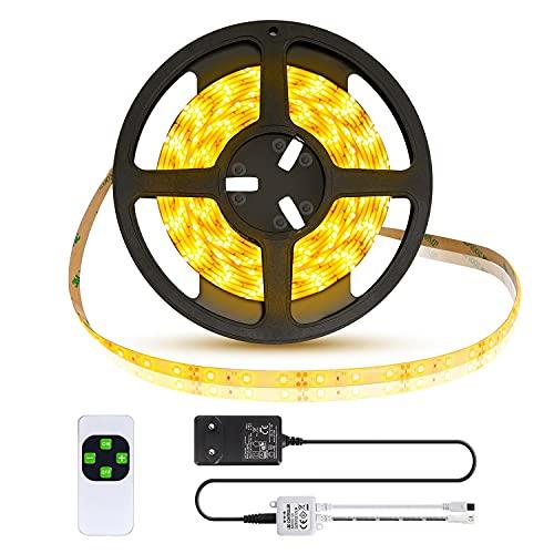 Aigostar - Tira LED 5M con Control Remoto e Iluminación Regulable, Luz...