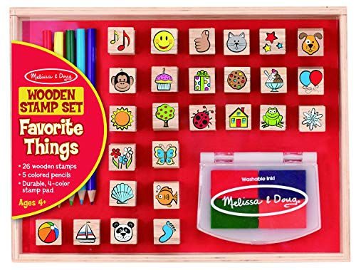 Melissa & Doug Wooden Favorite Things Stamp Set