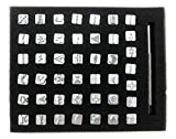 INNETOC 50 pcs 3/8″ 10mm Zinc Alloy Pattern Stamps Punch Set for Leather Craft Stamping Art Punching Tools Various Graphics Pattern Stamp Tool Leather Tools (3/8″(10mm), Pattern)