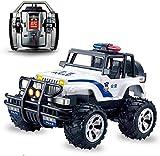 2.4GHz Off Road Vehículo Crawler 4WD Control remoto Monster Police Truck Wtërprõõõf coche para niños con luces de alta velocidad inalámbrico Elèctric Racing para niños adultos Hobby tõyys