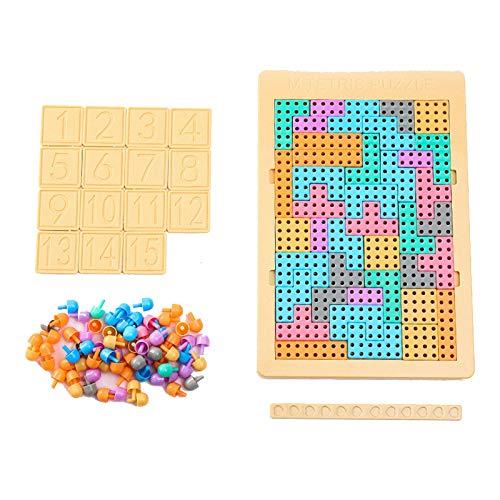Guguetes educativos para niños rompecabezas de escritorio, regalos de cumpleaños para niños y niñas de más de 3 años de edad, Tetris bloques de construcción, clavos de setas, digital, Huarong Road