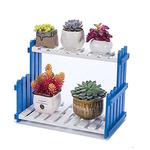 FZN Escalier Balcon Étagère À Fleurs Salon À Plusieurs Étages Pot De Fleurs en Bois Étagère À Fleurs en Bois Intérieur Pots de Fleurs (Taille : 40 cm)