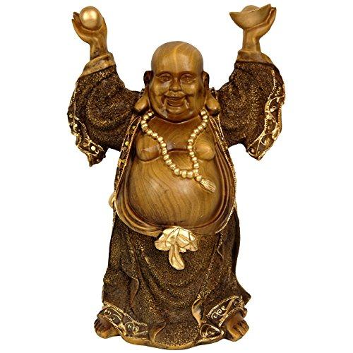 Oriental Furniture 12' Standing Prosperity Buddha Statue