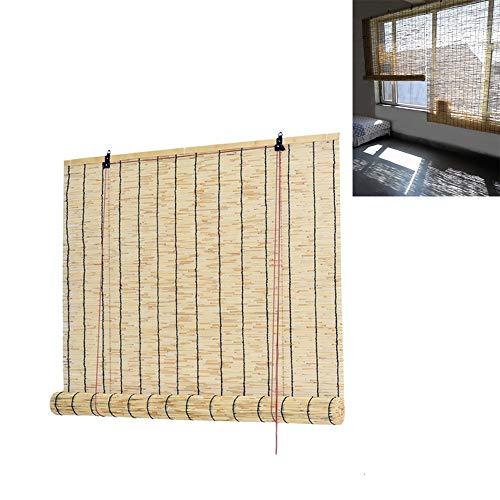XYNH Persiana Enrollable-Sombreado-protección-Solar,Cortina De Bambú para Interiores/Exteriores-Toldo Vertical-Cortina De Madera-Cortina De Madera Estor