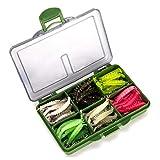 121pcs Luminoso Camarón Señuelo Set, 6 Camarones Camarones Color Cebo Señuelos De Pesca con Kit De Ganchos