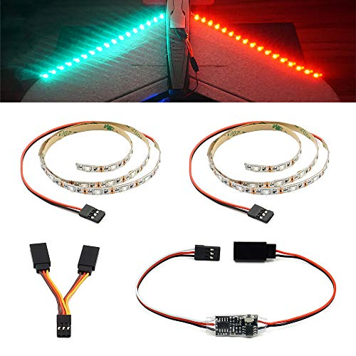 Remote Controlled LED Light Strip for RC Fixed Wing Airplane Flying Wing Plane AR Wing Drone