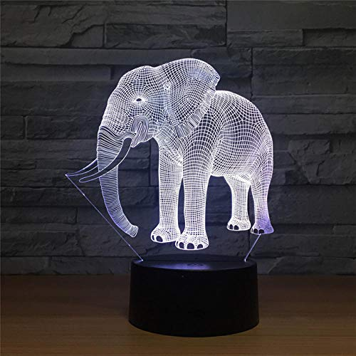 Picture Camping Olifant Tand LED Nachtlampje Action Figuur 7 kleuren Touch Tafel Decoratie Licht illusie patroon 7 kleurverandering Touch