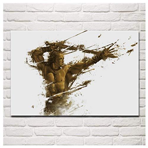 HJZBJZ Conan Il Barbaro Artistico Corpo Spezzato Statua Fantasy Soggiorno Wall Art Poster Stampe su Tela Home Decor -20x28 Pollici No Frame 1 PCS