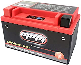 YTX7A-BS Lithium Ion Sealed Powersports Battery 12 Volts 160 LCA for Motorcycles Scooters and ATV (MMG2)