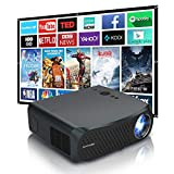 7200 Lux Native 1080p Projector with 5G WiFi Bluetooth, Home LED Projector Full HD Movie Projector Support 4K, with X/Y Zoom and 4D Keystone Correction for Smartphone, Android, TV Stick, HDMI, USB