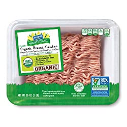 Perdue Harvestland Organic Ground Chicken, Free Range, Non-GMO, All Natural, Fresh, 16 oz.