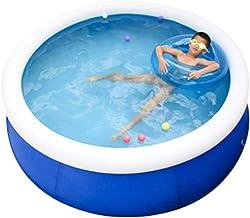Piscinas hinchables Piscinas Hinchables Adultos Piscina Hinchable para Adultos Y Niños. Baño Grande Centro De Natación Familiar Al Aire Libre 1-4 Personas (Color : Blue-set2, Size : 6ft)
