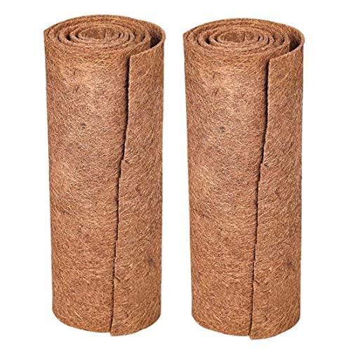 2 unids tapetes de fibra de coco natural de la alfombra de reptil de la prima de la mascota Lizard Snake Chamelon Turtle Ropa de cama Bunny Conejo Mat (Marrón) Buena calidad