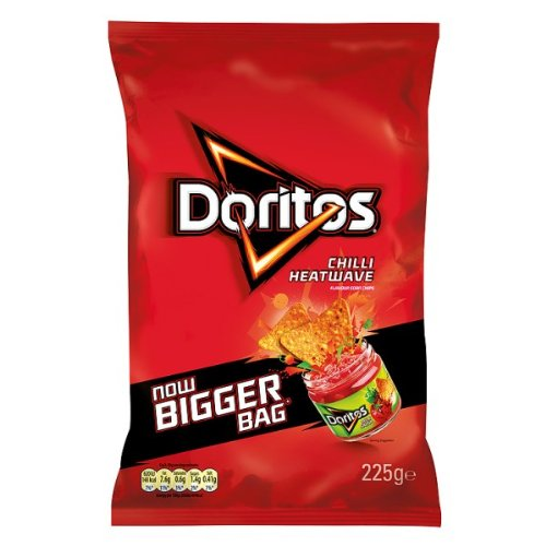 Doritos Chilli Heatwave Flavour Corn Chips 180G (Pack Of 12)