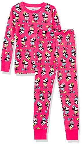 Amazon Essentials Disney Star Wars Marvel Princess Snug-Fit Cotton Pajamas Sleepwear Sets, 2-Piece 100% Minnie, 5 años