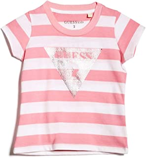 GUESS Factory Kids Girl/'s Beatrix Logo Tee 2-6