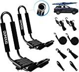 J-bar Kayak roof Rack,Universal Rack Carrier for Kayaks Boat Surf Ski Canoe, SUP, Surfboard and Ski Board Rooftop Mount Rack on SUV