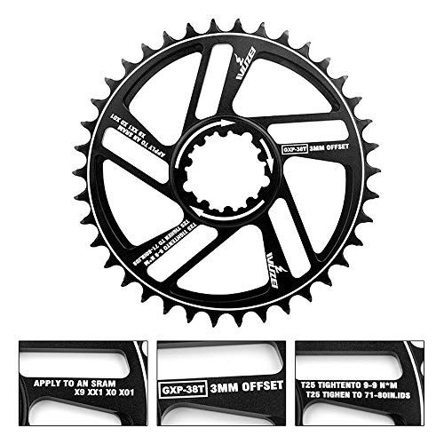 Blusea Bicycle Chainring 30T 32T 34T 36T 38T 40T 42T Bicycle Crank - Bike Circle Crankset Single Plate
