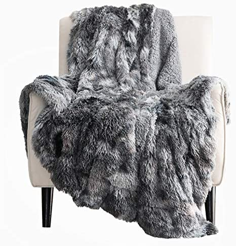 Bedsure Faux Fur Reversible Tie dye Sherpa Queen Blanket for Sofa Couch and Bed Super Soft Fuzzy product image