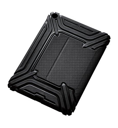 エレコム iPad 9.7 (2017/2018) ケース フラップカバー ZEROSHOCK フリーアングル 耐衝撃 ブラック TB-A179ZEROFBK