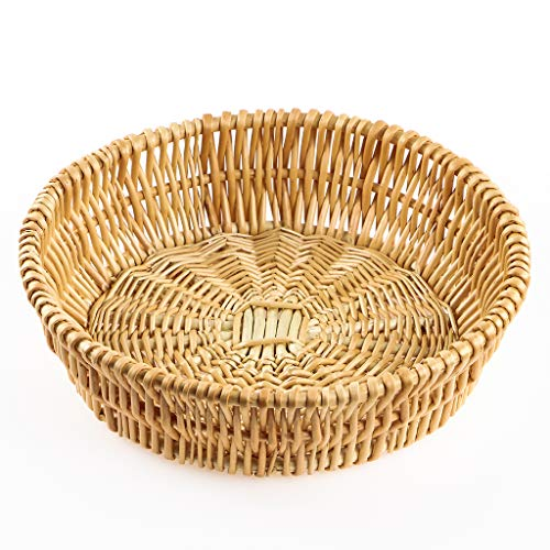 MDLUU Hand-woven Basket, Wicker Basket, Willow Basket, Food Serving Basket for Bread, Fruit, Vegetable Storage, Gift Basket