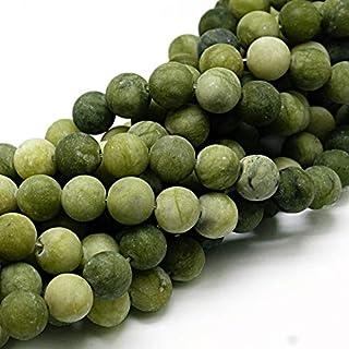 Piedras Preciosas Naturales de Taiwan, Jade Mate, Redondas, 4 mm, 6 mm, 8 mm, 10 mm, Color Verde, Set Suelto, Piedra, Verde, 6mm, 18 Stück