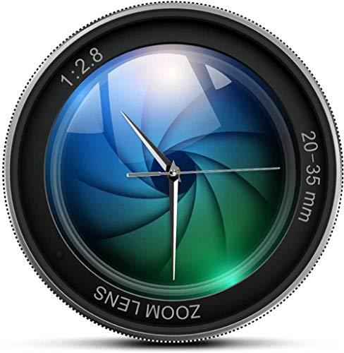 Reloj De Pared Diseño De Reloj De Pared Lente De Cámara Personalizada Impresión Reloj De Pared Fotografía Imágenes Zoom Color Foto Iso Exposición Snap Selfie Decoración Reloj De Pared Moderno Adecuado