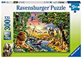 Ravensburger Evening at The Waterhole 300 Piece Jigsaw Puzzle for Kids – Every Piece is Unique, Pieces Fit Together Perfectly