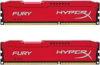 Kingston HyperX FURY 16GB Kit (2x8GB) 1866MHz DDR3 CL10 DIMM - Red (HX318C10FRK2/16)