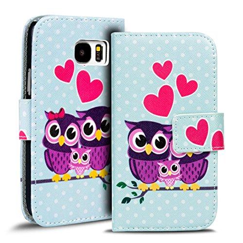 Preisvergleich Produktbild Conie PW35345 Print Wallet Kompatibel mit Samsung Galaxy S8 Plus,  Motiv Klapphülle mit HD Druck Muster Etui für Galaxy S8 Plus Hülle Motiv Eule 6