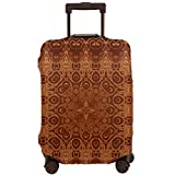 Travel Suitcase Protector,Lacy Persian Arabic Pattern from Ottoman Empire Palace Carpet Style Artprint,Suitcase Cover Washable Luggage Cover S