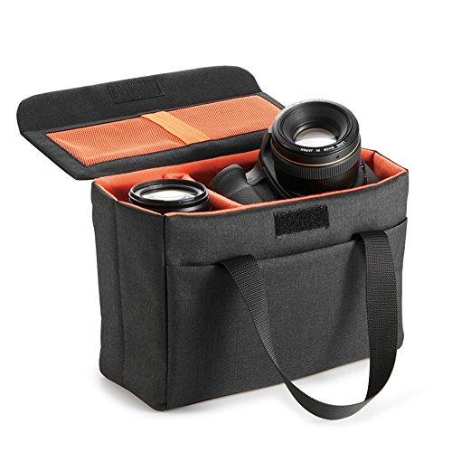 Koolertron Waterproof DSLR SLR Camera Insert Bag Camera Inner Case Bag for Sony, Canon, Nikon, Olympus (Gray)