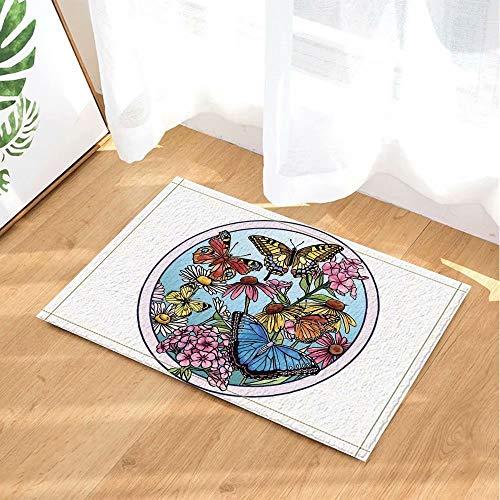 Tuindecoratie, vlinder Chinees schilderij Kinderbadkamer tapijt toiletdeur mat woonkamer 40X60CM badkameraccessoires