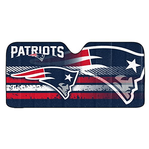 FANMATS NFL New England Patriots Universal Auto Shade, Blue, One Size (681620801187)