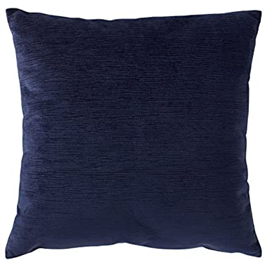 Rivet Velvet Texture Pillow, 17  x 17 , Midnight
